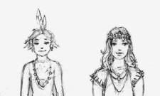 Forest people sketch
